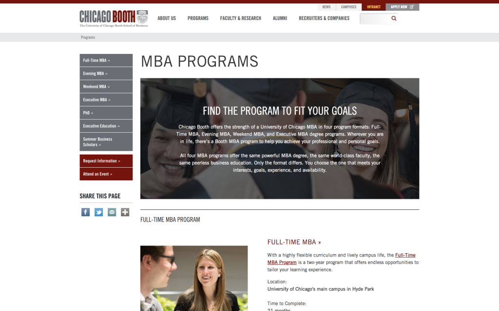 Booth MBA Programs