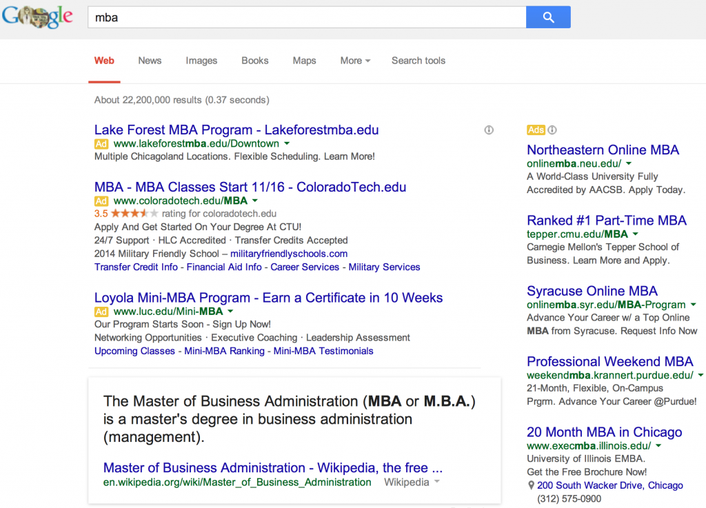 MBA Search Results