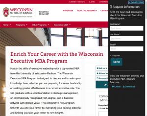 University of Wisconsin-Madison's MBA page